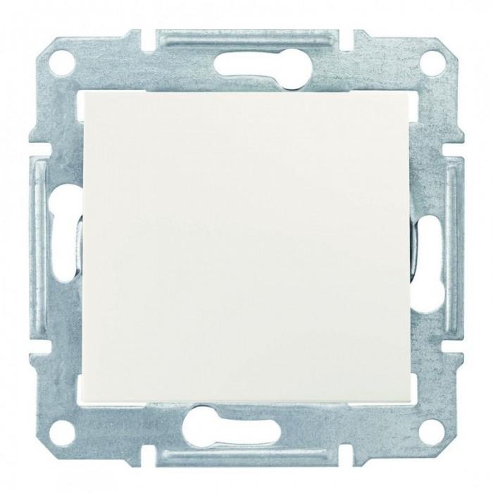 1-клавішний прохідний вимикач Schneider Electric Sedna Слонова кістка (SDN0400123)
