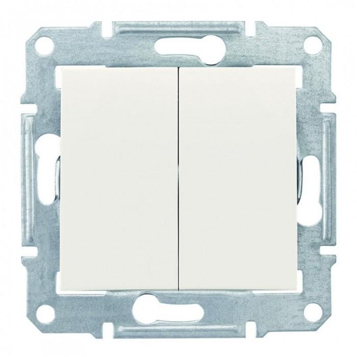 2-клавішний прохідний вимикач Schneider Electric Sedna Слонова кістка (SDN0600123)