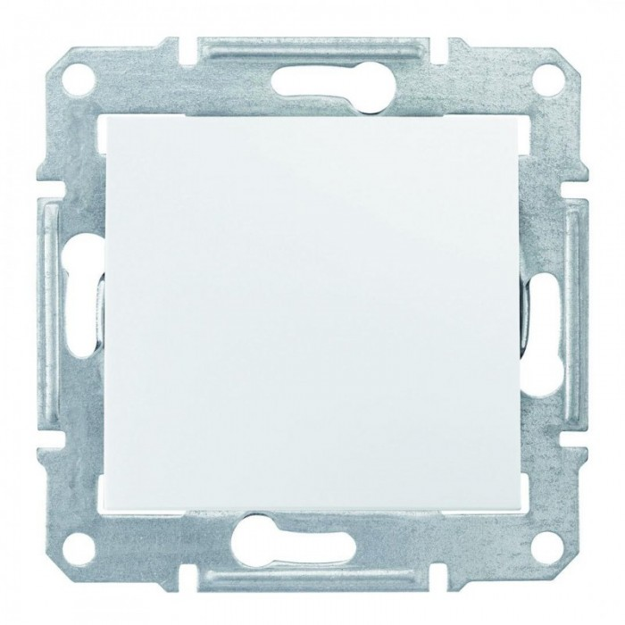 1-клавішний вимикач Schneider Electric Sedna Білий (SDN0100121)