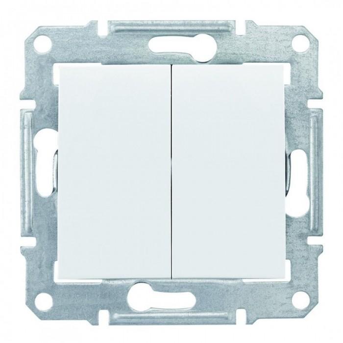 2-клавішний вимикач Schneider Electric Sedna IP44 Білий (SDN0300421)