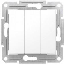 3-клавішний вимикач Schneider Electric Sedna Білий (SDN0300621)