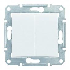 2-клавішний прохідний вимикач Schneider Electric Sedna Білий (SDN0600121)
