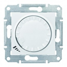 Світлорегулятор (диммер) прохідний, поворотно-натискний ємнісний Schneider Electric Sedna 40-1000 Вт Білий (SDN2200921)