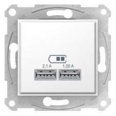 USB-розетка подвійна Schneider Electric Sedna Біла (SDN2710221)