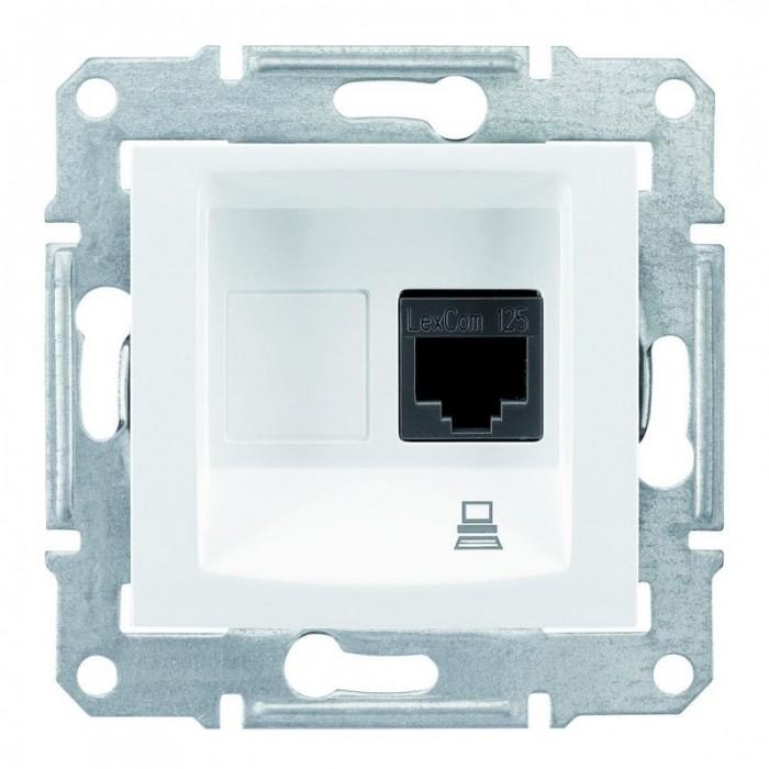Комп'ютерна розетка кат. 5e Schneider Electric Sedna Біла (SDN4300121)