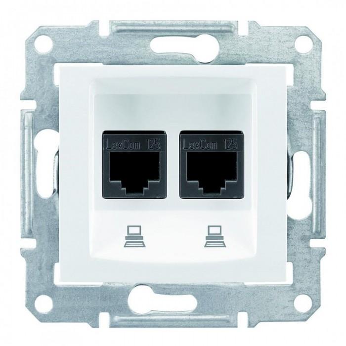 Комп'ютерна розетка подвійна кат. 5e Schneider Electric Sedna Біла (SDN4400121)