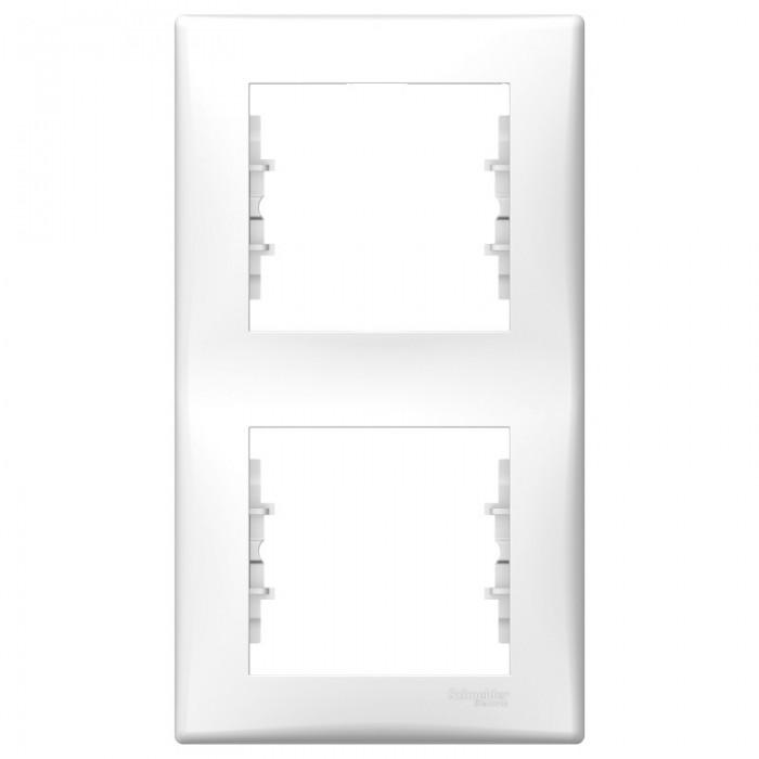 Рамка подвійна Schneider Electric Sedna вертикальна Біла (SDN5801121)