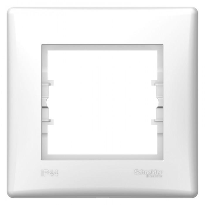 Рамка одинарна Schneider Electric Sedna горизонтальна IP44 Біла (SDN5810521)