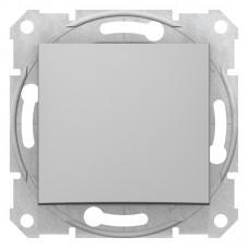 1-клавішний вимикач Schneider Electric Sedna Алюміній (SDN0100160)