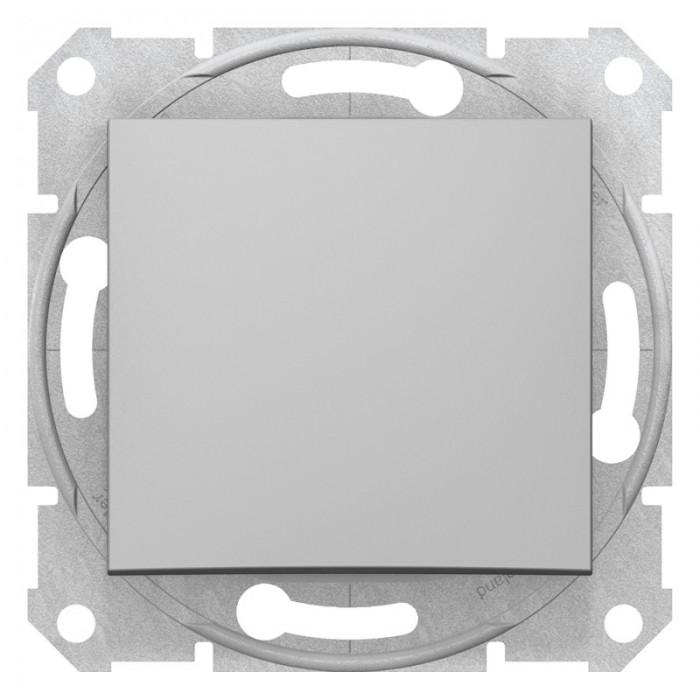 1-клавішний прохідний вимикач Schneider Electric Sedna Алюміній (SDN0400160)