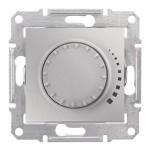 Світлорегулятор (диммер) поворотно-натискний Schneider Electric Sedna 60-500 Вт індуктивний, прохідний Алюміній (SDN2200560)