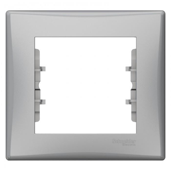 Рамка одинарна Schneider Electric Sedna горизонтальна Алюміній (SDN5800160)