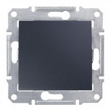 1-клавішний вимикач Schneider Electric Sedna Графіт (SDN0100170)