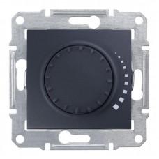 Світлорегулятор (диммер) поворотно-натискний Schneider Electric Sedna 60-500 Вт індуктивний, прохідний Графіт (SDN2200570)