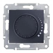 Світлорегулятор (диммер) поворотно-натискний Schneider Electric Sedna 25-325 Вт ємнісний, прохідний Графіт (SDN2200770)