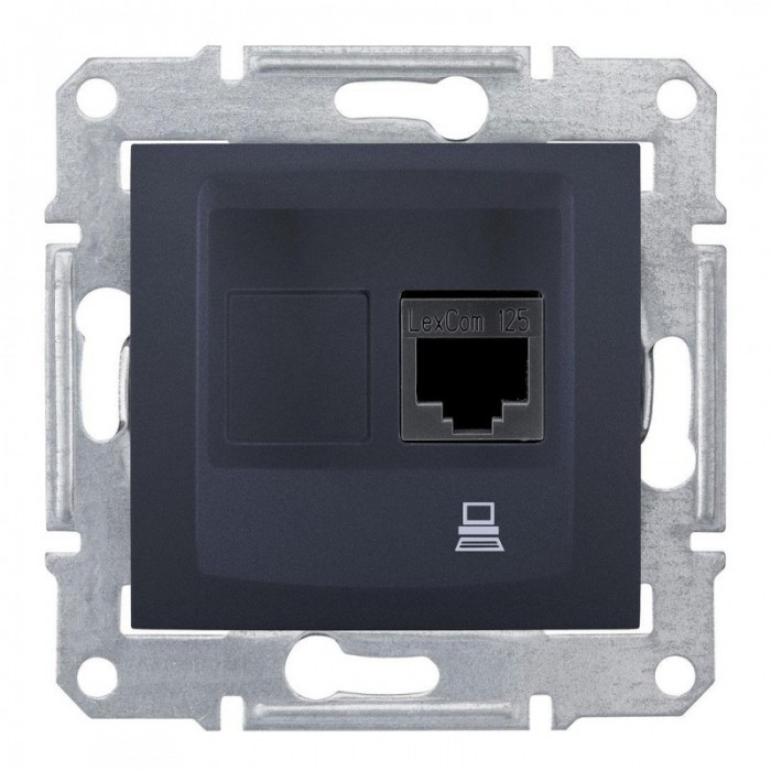 Комп'ютерна розетка кат. 5e Schneider Electric Sedna Графіт (SDN4300170)