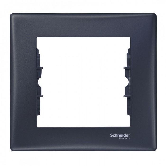 Рамка одинарна Schneider Electric Sedna горизонтальна Графіт (SDN5800170)