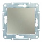 2-клавішний вимикач Schneider Electric Sedna Титан (SDN0300168)