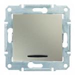 1-клавішний перехресний вимикач Schneider Electric Sedna із підсвічуванням Титан (SDN0501168)