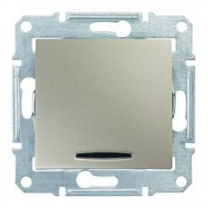 1-клавішний вимикач Schneider Electric Sedna із підсвічуванням Титан (SDN1400168)