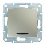 1-клавішний прохідний вимикач Schneider Electric Sedna із підсвічуванням Титан (SDN1500168)