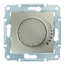 Світлорегулятор (диммер) поворотно-натискний Schneider Electric Sedna 60-500 Вт індуктивний, прохідний Титан (SDN2200568)