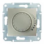 Світлорегулятор (диммер) поворотно-натискний Schneider Electric Sedna 25-325 Вт ємнісний, прохідний Титан (SDN2200768)