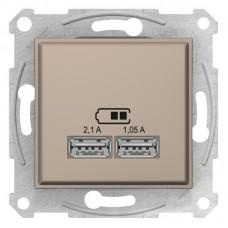 USB-розетка подвійна Schneider Electric Sedna Титан (SDN2710268)