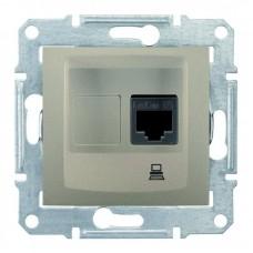 Комп'ютерна розетка кат. 5e Schneider Electric Sedna Титан (SDN4300168)