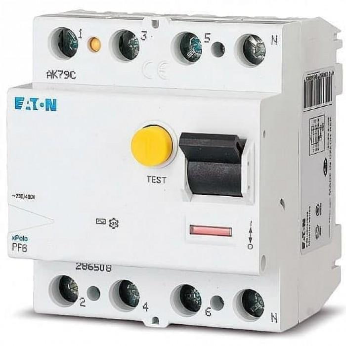 Диференціальне реле (УЗО) Eaton 4p 40 А 30 мА (286508)