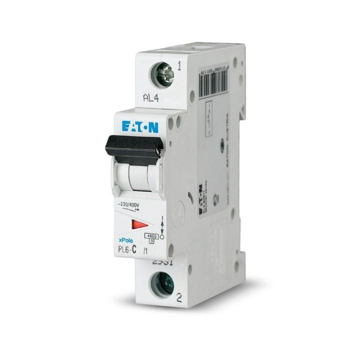 Автоматичний вимикач Eaton PL6-C6/1 1Р 6 А тип С (286530)
