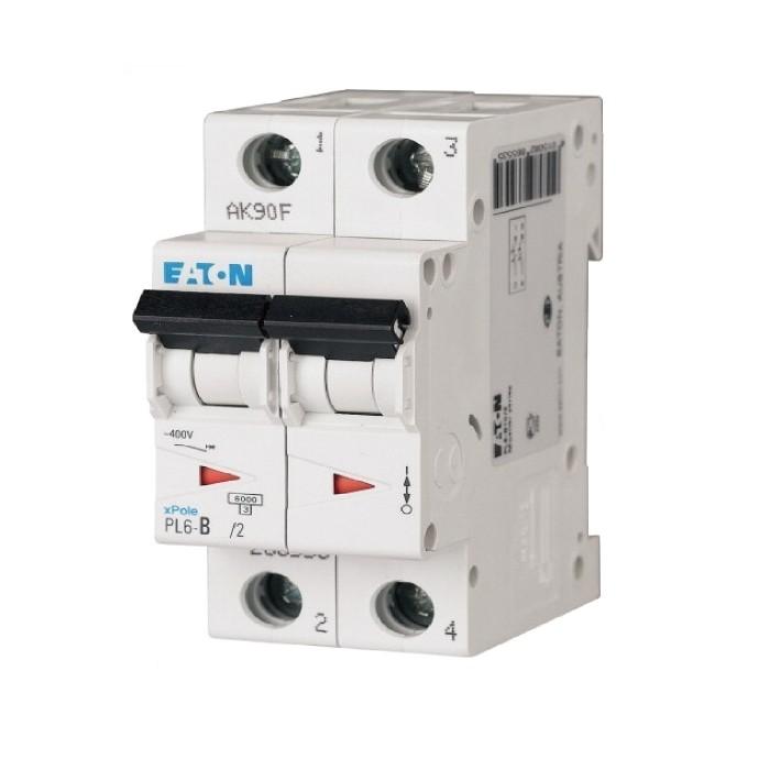 Автоматичний вимикач Eaton PL6-C63/2 2Р 63 А тип С (286573)