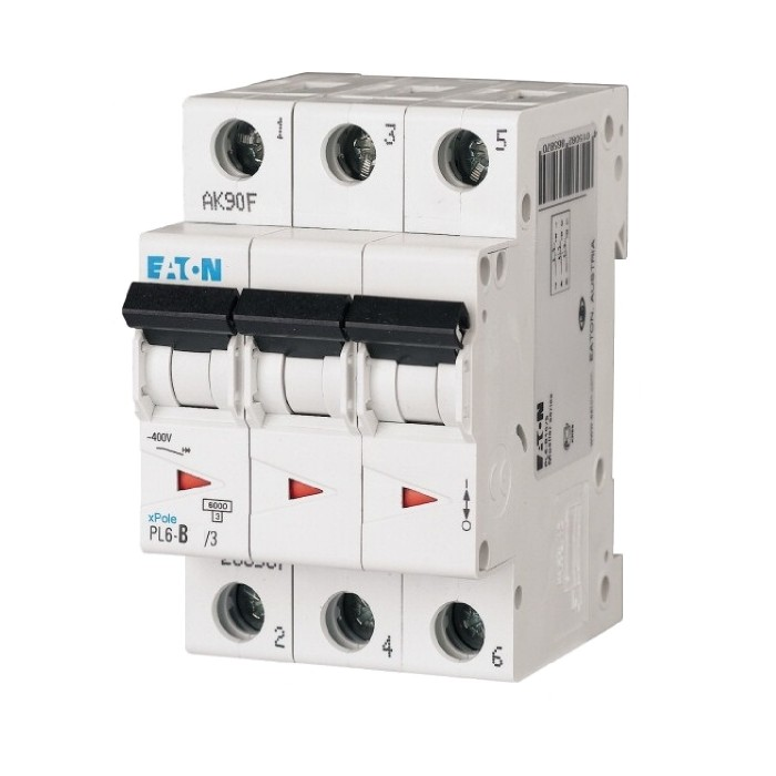 Автоматичний вимикач Eaton PL6-C10/3 3Р 10 А тип С (286599)