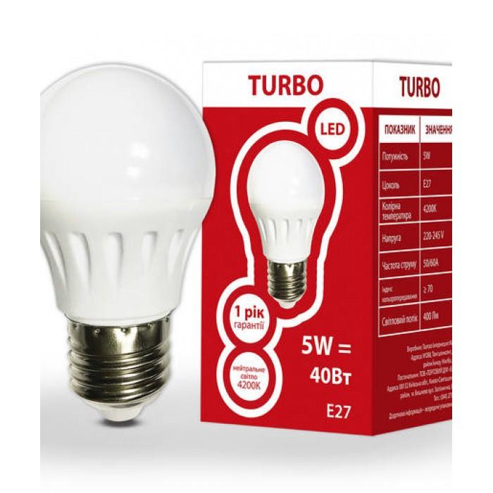 Світлодіодна лампа ELCOR TURBO Е27 G45 5Вт 4200K (534304)