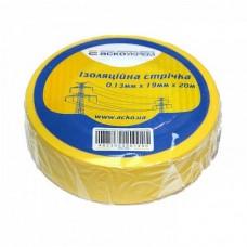 Ізоляційна стрічка АСКО-УкрЕМ 0,13мм 19мм / 20м Жовта (A0150020039)