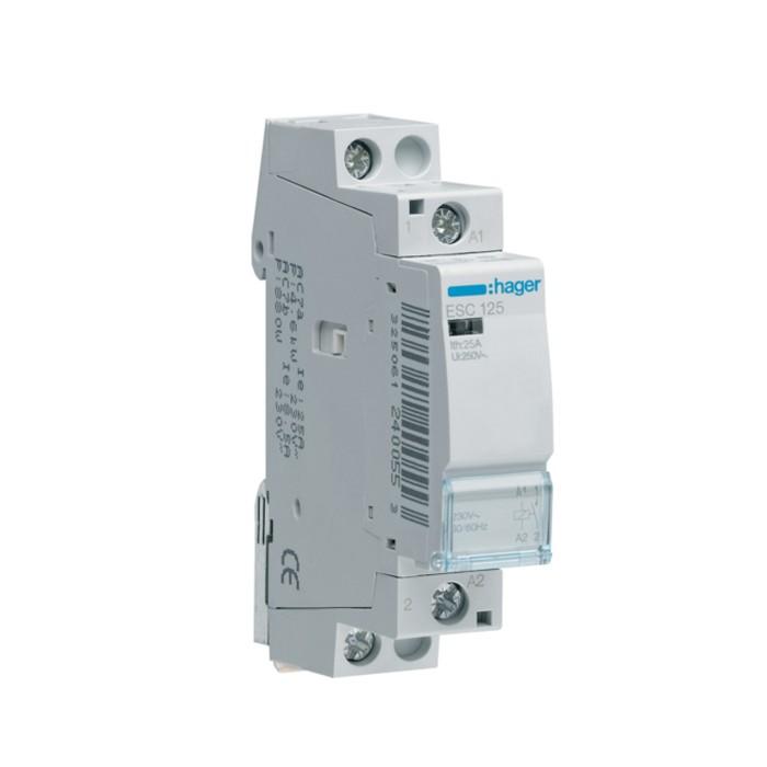 Модульний контактор Hager 230В/25А 1НВ (ESC125)