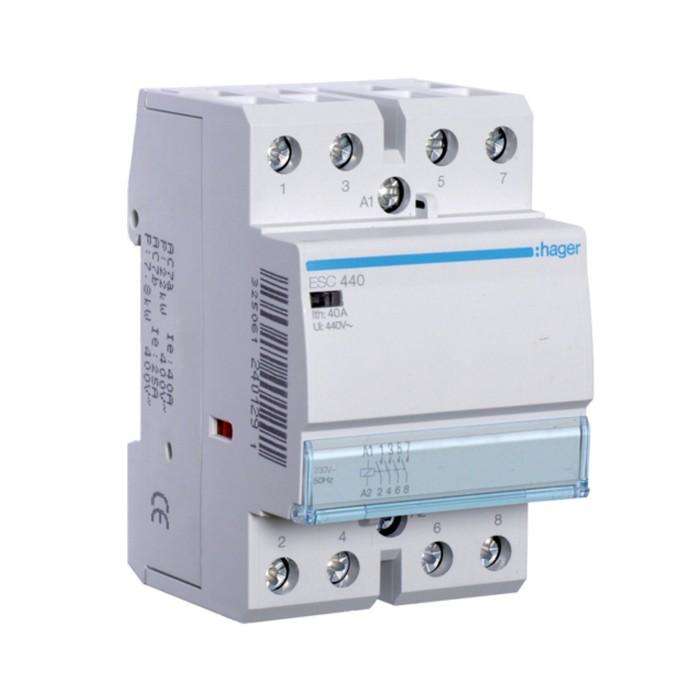 Модульний контактор Hager 230В/40А 4НВ (ESC440)