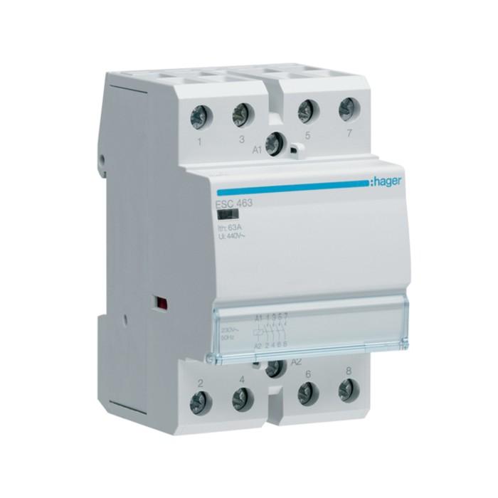 Модульний контактор Hager 230В/63А 4НВ (ESC463)