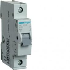 Автоматичний вимикач HAGER 1Р 20 А тип С (MC120A)