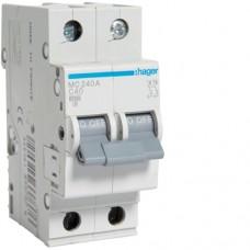 Автоматичний вимикач HAGER 2Р 40 А тип С (MC240A)
