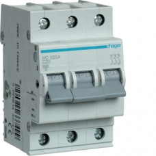 Автоматичний вимикач HAGER 3Р 20 А тип С (MC320A)