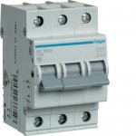 Автоматичний вимикач HAGER 3Р 63 А тип С (MC363A)