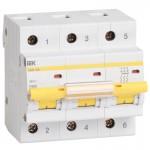 Автоматичний вимикач IEK ВА47-100 3P 100 A 10кА C (MVA40-3-100-C)
