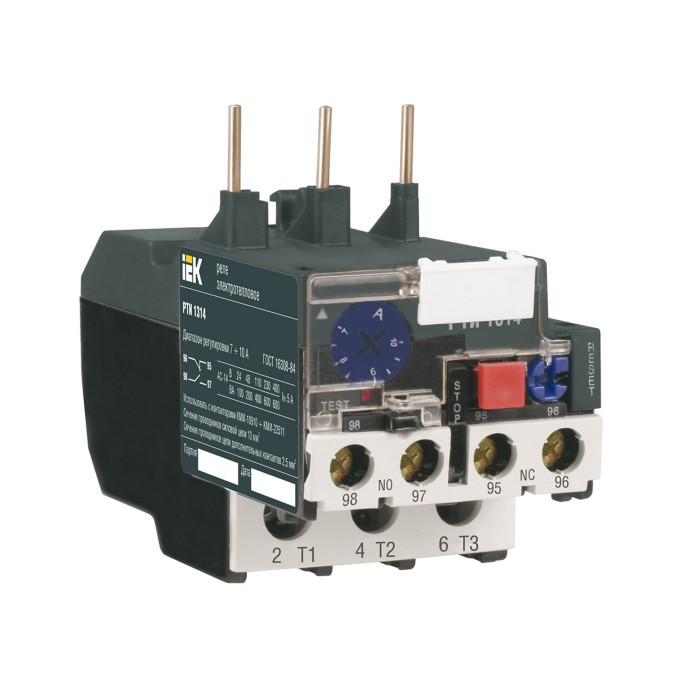 Реле РТІ-1304 IEK електротеплове 0.4-0.63 А (DRT10-D004-C063)