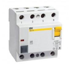 Диференціальне реле (УЗО) IEK 4p 25 А 30 мА (MDV10-4-025-030)